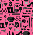 BDSM seamless pattern Accessories sadist masochist vector image vector image