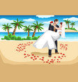 beach wedding vector image