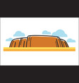 big cliff on sand vector image vector image