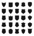 black shield shape vector image