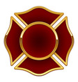 blank fire dept rescue logo dark red and gold vector image vector image