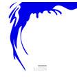 blue-blot-paint-one vector image