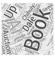 books about dale chihuly Word Cloud Concept vector image vector image