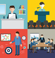 Business man meeting conference and brainstorming vector image vector image