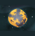 cartoon earth planet on space background vector image vector image
