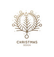 christmas abstract wearth vector image vector image