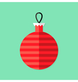 Christmas Decorative Ball Flat Icon vector image vector image