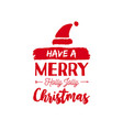 christmas text quote lettering card vector image vector image