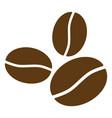 coffee beans flat icon symbol vector image