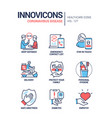 coronavirus disease - line design style icons set vector image