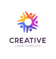 creative connect people logo family logo template vector image vector image