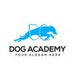 dog academy logo design vector image