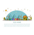 eco home with bins vector image