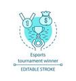esports tournament winner concept icon vector image vector image