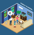 family scandal isometric composition vector image