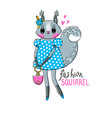 fashion kawaii animal vector image