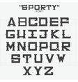 Font of sports theme vector image vector image