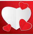 Four heart paper vector image vector image