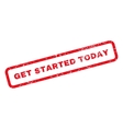 Get Started Today Text Rubber Stamp vector image vector image