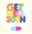 Get well soon postcard vector image