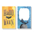 halloween card templates2 vector image vector image