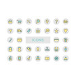 icons for online store a set of icons vector image vector image