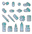 Medical modern icon set variable line vector image vector image