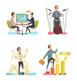 meeting concept icons set vector image vector image