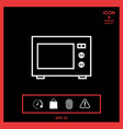 microwave oven linear icon vector image