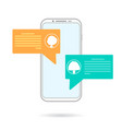mobile chating vector image vector image