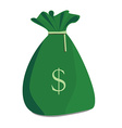 Money sack vector image vector image