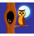Owl and tree vector image vector image