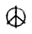 peace sign in black color logotype hippie symbol vector image