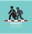 pickpocketer steal things from bag vector image vector image