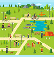public park camping in the park vector image vector image