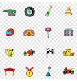 Race set icons vector image vector image