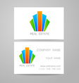 real estate business card vector image vector image