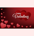 red happy valentine day background design vector image vector image