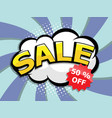 sale and discount label comic bookpop art vector image