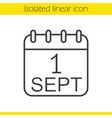 september 1st linear icon vector image vector image