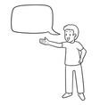 set kid talking vector image