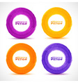 Set of Hand drawn watercolor circles vector image