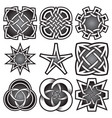 set of logo templates in celtic knots style vector image