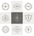 Set of Monogram flourishes logo vector image