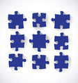 Set of puzzle pieces vector image vector image