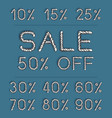 set sale labels for discount season vector image vector image