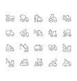 set simple icons heavy equipment vector image