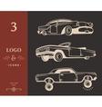 Set Vintage Old Cars vector image vector image