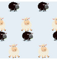 sheep jumping over black sheep pattern vector image vector image