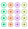 simple colored flower icon symbol logo set vector image